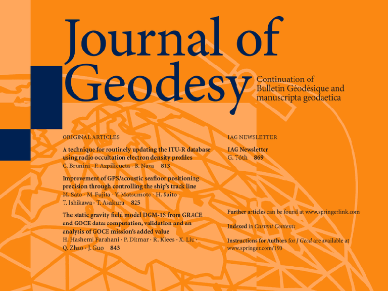 Right click to download: Journal of Geodesy
