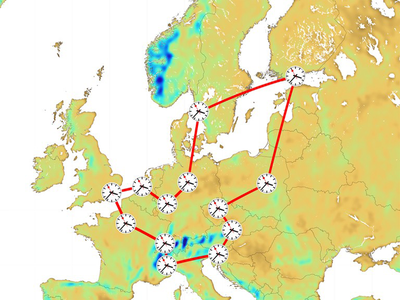 speisen Laserlicht in ein Glasfaser-Netzwerk ein: So werden große europäische Forschungszentren miteinander verbunden und mit präzisen Zeit- und Frequenzsignalen versorgt. (© Foto: Stefan Schröder | Uni Bonn)
