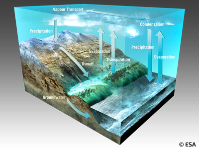 water fluxes and storages on earth
